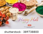 Happy Holi Greeting Card  Holi...