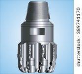 illustration of pdc drilling bit | Shutterstock .eps vector #389741170