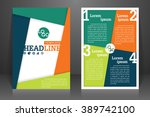 abstract vector modern flyers... | Shutterstock .eps vector #389742100
