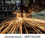 spot welding industrial... | Shutterstock . vector #389742244