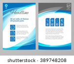 brochure flyer design layout... | Shutterstock .eps vector #389748208