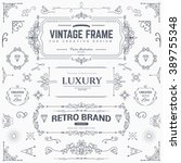 collection of vintage patterns. ... | Shutterstock .eps vector #389755348