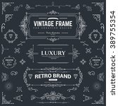 collection of vintage patterns. ... | Shutterstock .eps vector #389755354