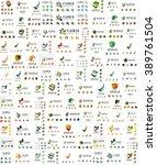logo huge mega collection ... | Shutterstock .eps vector #389761504