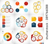 collection of infographic... | Shutterstock .eps vector #389766088
