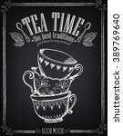 illustration with the words tea ... | Shutterstock .eps vector #389769640