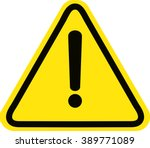 hazard warning attention sign | Shutterstock .eps vector #389771089