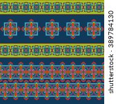 seamless pattern with ethnic... | Shutterstock .eps vector #389784130