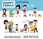 happy family. leisure... | Shutterstock .eps vector #389787433
