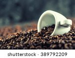 cup of coffee full of coffee... | Shutterstock . vector #389792209
