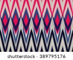 geometric ethnic oriental ikat... | Shutterstock .eps vector #389795176