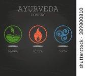 ayurveda doshas vector... | Shutterstock .eps vector #389800810