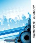 blue abstract retro party design | Shutterstock . vector #38980099