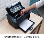 extract cartridge of a laser... | Shutterstock . vector #389811478