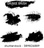 vector set of grunge brush... | Shutterstock .eps vector #389826889