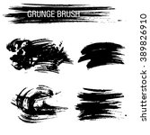vector set of grunge brush... | Shutterstock .eps vector #389826910