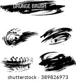 vector set of grunge brush... | Shutterstock .eps vector #389826973