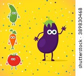 funny cartoon vegetables with...
