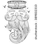 seaman. vector old sailor... | Shutterstock .eps vector #389832310
