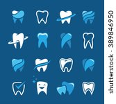 set of teeth  tooth icons on... | Shutterstock .eps vector #389846950
