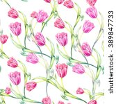 seamless natural floral... | Shutterstock . vector #389847733