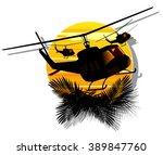 silhouette of military... | Shutterstock .eps vector #389847760