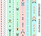 tribal art boho seamless... | Shutterstock .eps vector #389848633