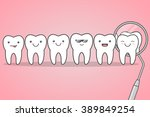 happy healthy teeth check at... | Shutterstock .eps vector #389849254