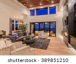 Beautiful Living Room With...