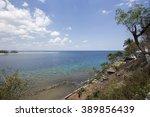beautiful seascape in lombok... | Shutterstock . vector #389856439