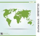 political world map vector... | Shutterstock .eps vector #389859730