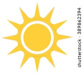orange sun icon vector...