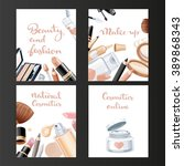 four vertical cosmetic banners... | Shutterstock .eps vector #389868343
