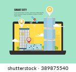 smart city and future of urban... | Shutterstock .eps vector #389875540