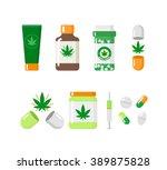 medical marijuana icons  .... | Shutterstock .eps vector #389875828