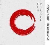 zen red circle  vector   Shutterstock .eps vector #389879230