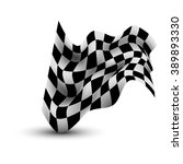waving checkered flag | Shutterstock . vector #389893330