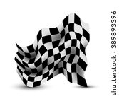 waving checkered flag | Shutterstock . vector #389893396