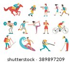 vector illustration character... | Shutterstock .eps vector #389897209