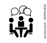 icon conference. people sitting ... | Shutterstock .eps vector #389901853