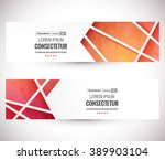 website header or banner set.... | Shutterstock .eps vector #389903104