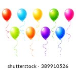 colorful balloons set vector | Shutterstock .eps vector #389910526