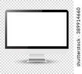 computer monitor isolated on... | Shutterstock .eps vector #389914660