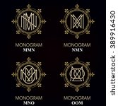vintage monograms   4 sets  ... | Shutterstock .eps vector #389916430