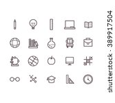 school icon set vector. | Shutterstock .eps vector #389917504