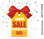 super sale poster template.... | Shutterstock .eps vector #389919898