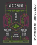 music event poster template.... | Shutterstock .eps vector #389921320