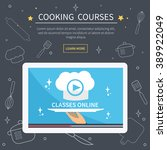 vector cooking courses image. ... | Shutterstock .eps vector #389922049
