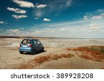 small car in a beautiful... | Shutterstock . vector #389928208