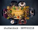 top view creative photo of... | Shutterstock . vector #389933218